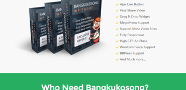 BangkuKosong Video WP Theme Review Built for Video Blogging Bonus Discounts